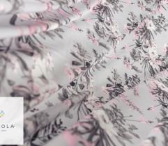 Silki kompozycja różowych kwiatów na szarym