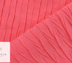 Tkanina plisowana szyfon neonowy róż