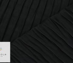 Tkanina plisowana szyfon czarny