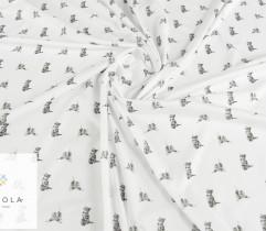 Jersey single kotki na białym