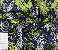 Jersey single liście palmy na granacie