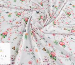 Silki drobne amarantowe kwiaty