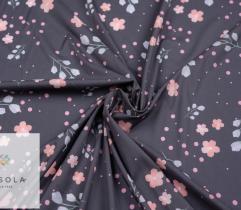 Silki drobne kwiaty na szarym