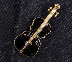Przypinka, wpinka, pin skrzypce (2433)