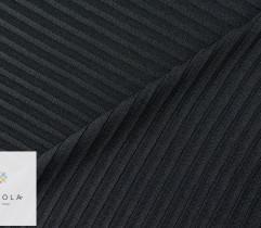 Jersey ity prążek czarny 100 cm