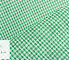 Tkanina obrusowa zielona krata