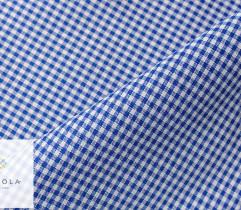 Tkanina obrusowa niebieska kratka