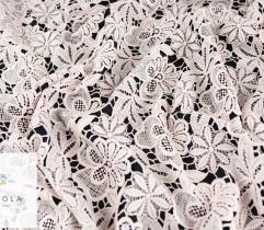 Koronka gipiurowa pudrowy róż