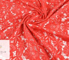 Koronka gipiurowa czerwona