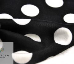 Punto czarne w białe groszki 2,5 cm