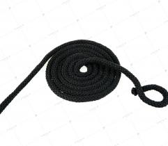 Sznurek bawełniany czarny 5 mm (414)