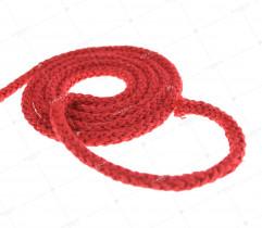 Sznurek bawełniany czerwony 5 mm (413)