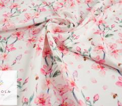 Marchiano, barbie różowe kwiaty na białym