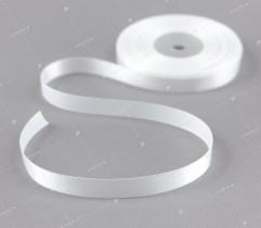 Wstążka atłasowa 12,5 mm biała (397)