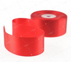 Wstążka atłasowa czerwony 38 mm (508)