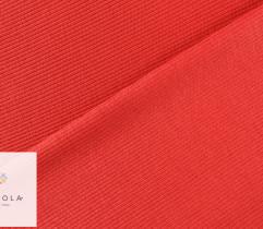 Ściągacz bawełniany czerwony prążek 90 cm