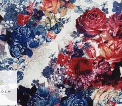 Wiskoza czerwone i niebieskie róże