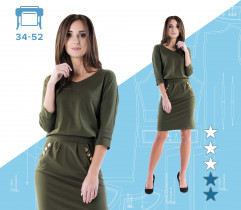 Vert dress 34-52 large format printing