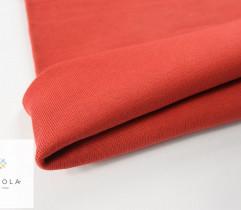 Rib - tubular cotton, red, 45 cm