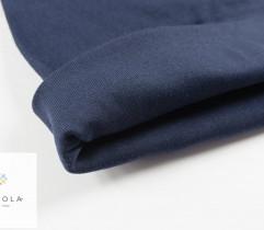 Rib - tubular cotton, navy blue, 50 cm