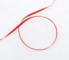 Wstążka atłasowa czerwona 3,5 mm (515)