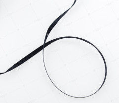 Wstążka atłasowa czarna 3,5 mm (399)