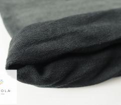 Dresówka pętelka ciemny szary melange rękaw 100 cm