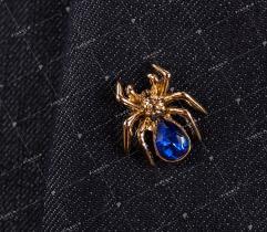 Przypinka, wpinka, pin niebieski pająk (2730)