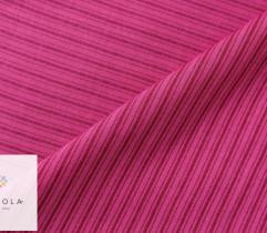 Tkanina wiskozowa różowa paski (2728)