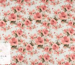 Barbie marchiano łososiowe kwiaty na białym tle