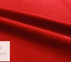 Dzianina Welur Bawełniany - czerwony