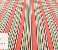 Tkanina wiskoza kolorowe pasy (2744)