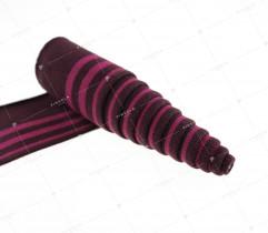 Ściągacz bordo - róż 100 cm / 6,5 cm (2797)