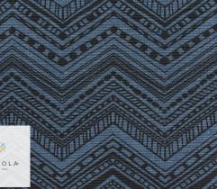 Tkanina bawełniana zygzak granatowy 140 cm