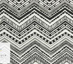 Tkanina bawełniana zygzak biały 140 cm