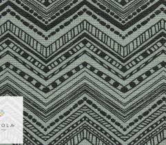 Tkanina bawełniana zygzak szaro - zielony 140 cm