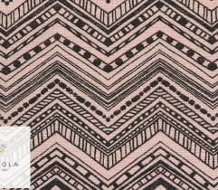 Tkanina bawełniana zygzak różowy 140 cm
