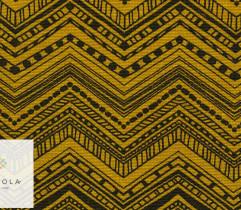 Tkanina bawełniana zygzak złoty 140 cm