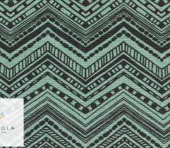 Tkanina bawełniana zygzak zielony 140 cm