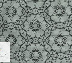 Tkanina bawełniana mandala szaro-zielony 140 cm