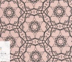 Tkanina bawełniana mandala różowy 140 cm (2787)