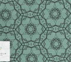 Tkanina bawełniana mandala zielony 140 cm (2788)