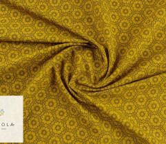Tkanina bawełniana mandala złoty 140 cm (2789)