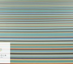 Woven polyester 260 g multicolor stripes