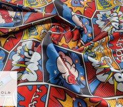 Tkanina na ręcznik mikrofibra komiks boom - bang