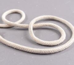 Sznurek bawełniany pleciony beżowy 8 mm