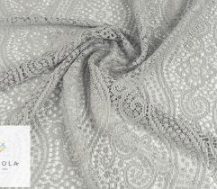 Lace with small pattern in gray 100 cm