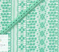 Koronka zielony ażur 140 cm