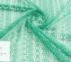 Lace openwork in green 140 cm