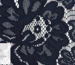 Lace flowers in navy 145 cm